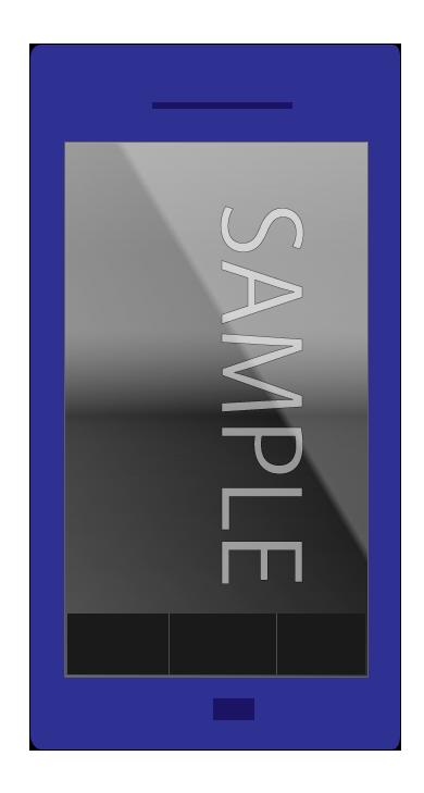 ブルーのスマートフォン電源オフ