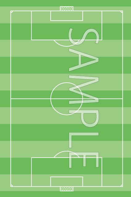 サッカーのフィールド(芝生あり/国際サイズの最小)