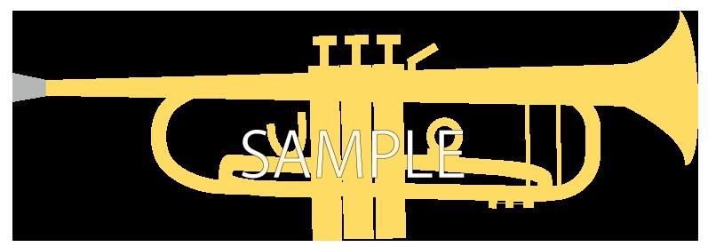 シンプルなトランペット(ゴールド)