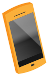 オレンジのスマートフォン3D