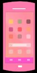ピンク正面ホーム画面